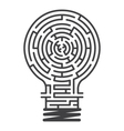 idea maze game white background vector image vector image
