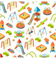 isometric playground objects background or vector image vector image