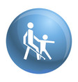 kid guide blind man icon simple style vector image vector image