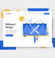 landing page template billboard design vector image
