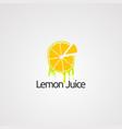 lemon juice logo concept icon element and vector image vector image