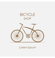 logo bicycle shop vector image vector image