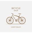logo bicycle shop vector image vector image