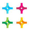 logo in form a stylized cross vector image vector image