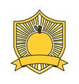 orange fresh healthy food emblem vector image vector image