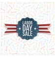 Paper Label with Labor Day Sale Text vector image