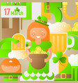 patricks day background vector image vector image