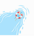 people swimming pool ring vector image