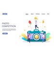 photo competition website landing page vector image vector image