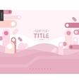 Pink design landscape template vector image