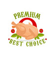 premium best choice logo template design badge vector image vector image