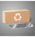Realistic blank craft paper medicine package box vector image vector image
