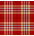 red and beige tartan plaid seamless pattern vector image vector image