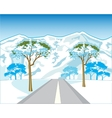 Road in mountain vector image