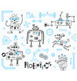 robotics for kids set design elements robots vector image