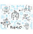 robotics for kids set of design elements robots vector image vector image