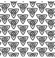 seamless monochrome scandinavian symbols vector image vector image