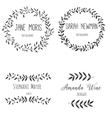Set hand drawn logo Nature design allements vector image vector image