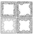Set of hand drawn artistic black frames vector image