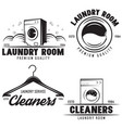 set of laundry logos emblems and design vector image vector image