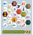 Set of Spain icons vector image vector image