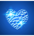 Shiny Heart of Bubbles vector image vector image