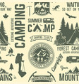 summer camp seamless pattern or background vector image vector image