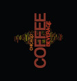 the coffee beverage chicago style text background vector image vector image