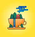 travel in cup vector image vector image