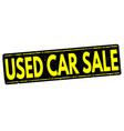 used cars sale stamp vector image