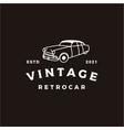 vintage retro car logo design or classic vector image vector image