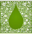 Water drop eco icons background vector image