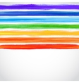 Watercolor rainbow background with some stripes vector image vector image