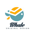 whale original designlogo template can be used vector image vector image