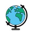wolrd map cartoon vector image vector image