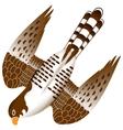 falcon in flight vector image