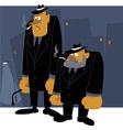 Mafia never sleeps vector image