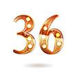 36 years anniversary celebration design vector image