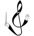 Abstract treble clef as conductor vector image