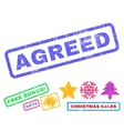 Agreed Rubber Stamp vector image vector image