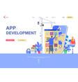 app development flat landing page template vector image