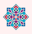 arabesque arabic vignette orient colorful vector image vector image