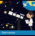astronomer occupation vector image