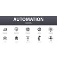 automation simple concept icons set contains such vector image