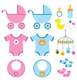 Baby elements set vector | Price: 1 Credit (USD $1)