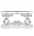 Baroque Classic table furniture vector image vector image