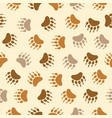 bear footprint seamless pattern repeating camping vector image vector image