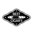 best cuban cigar logo simple style vector image vector image