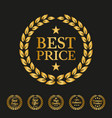 best price label on black background vector image vector image