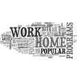 best work at home opportunities text word cloud vector image vector image